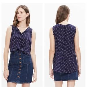 Madewell Tops - Madewell Silk Tank Top in Dots and Stars